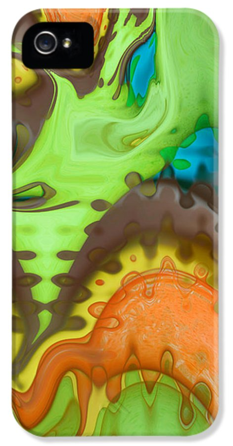 Digital Art IPhone 5 Case featuring the digital art Lucid Dreaming by Linda Sannuti