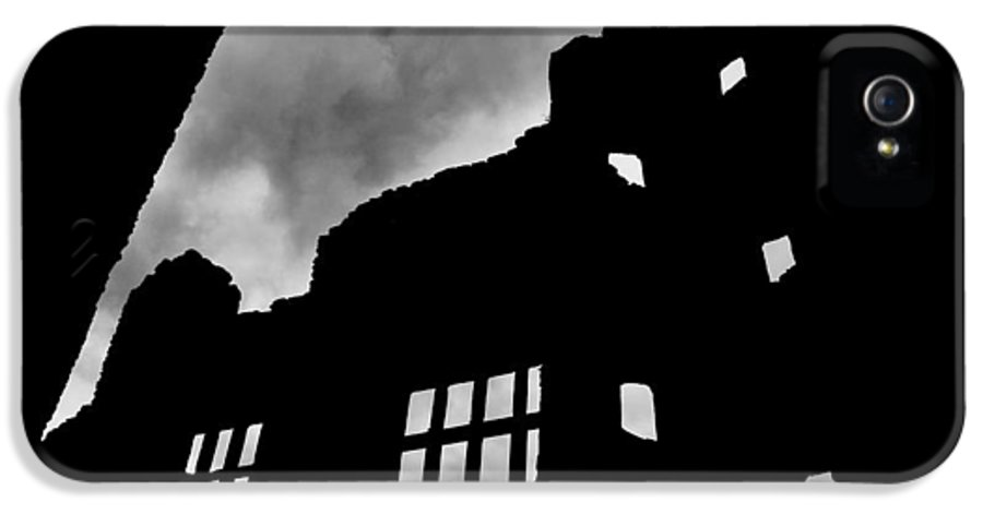 Castle IPhone 5 Case featuring the photograph Ludlow Storm Threatening Skies Over The Ruins Of A Castle Spooky Halloween by Andy Smy