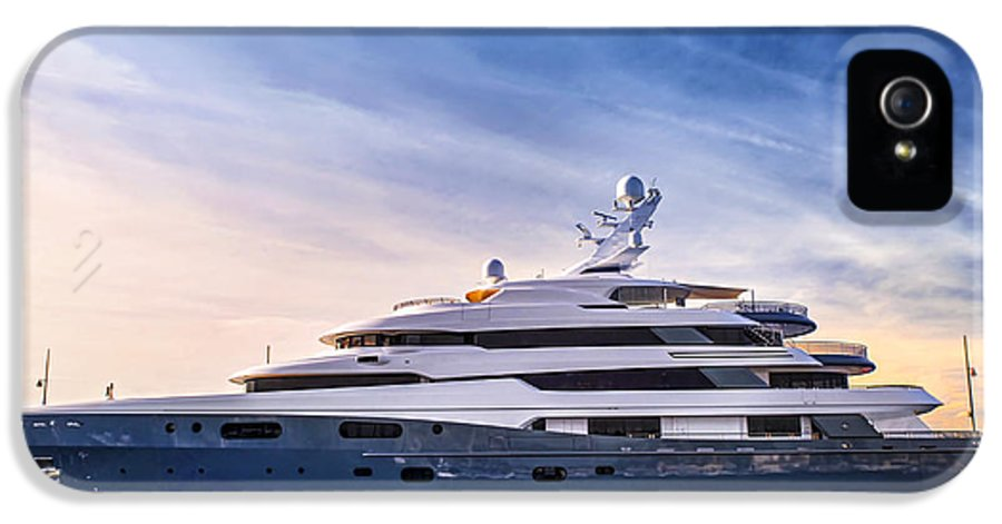 Yacht IPhone 5 Case featuring the photograph Luxury Yacht by Elena Elisseeva