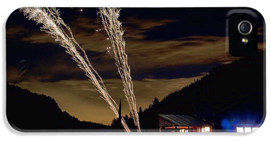 Fireworks IPhone 5 / 5s Case featuring the photograph Magic Mountain by James BO Insogna