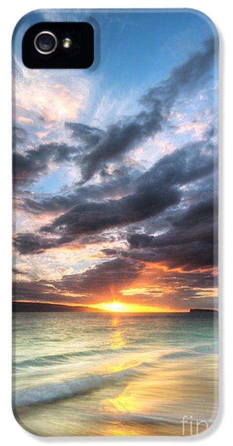 Makena Sunset IPhone 5 Case featuring the photograph Makena Beach Maui Hawaii Sunset by Dustin K Ryan