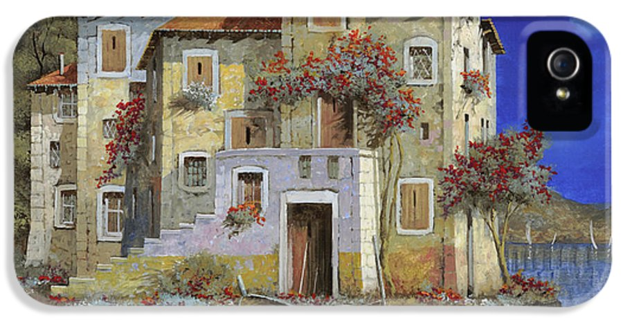 Landscape IPhone 5 Case featuring the painting Mareblu' by Guido Borelli