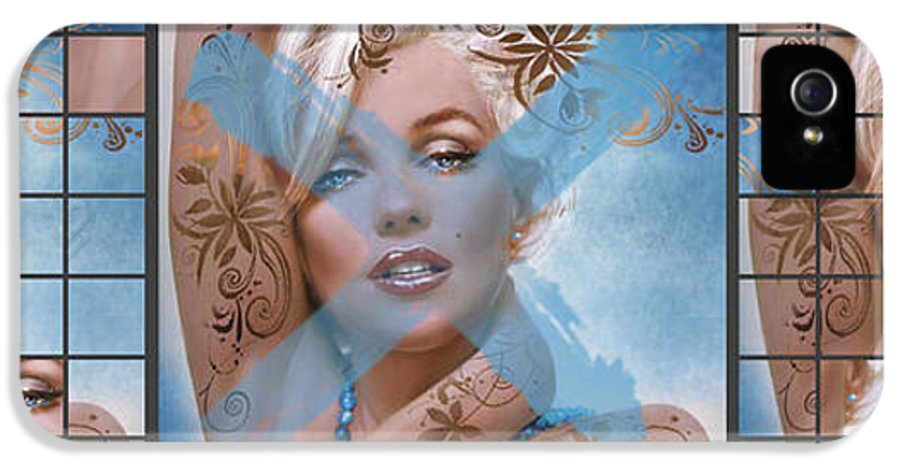 Marilyn IPhone 5 Case featuring the painting Marilyn 127 Tryp by Theo Danella