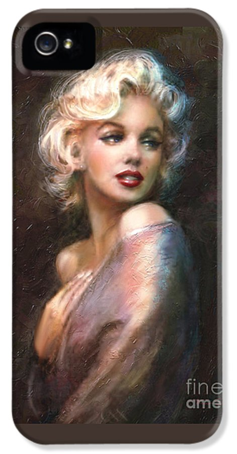Marilyn IPhone 5 / 5s Case featuring the painting Marilyn Romantic Ww 1 by Theo Danella