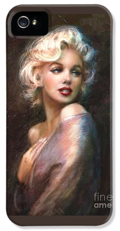 Marilyn IPhone 5 Case featuring the painting Marilyn Romantic Ww 1 by Theo Danella