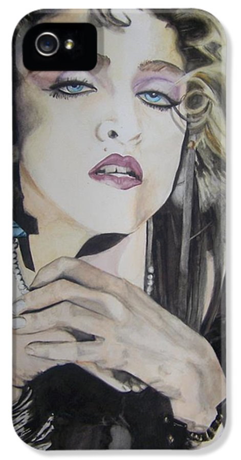 Madonna IPhone 5 Case featuring the painting Material Girl by Lance Gebhardt