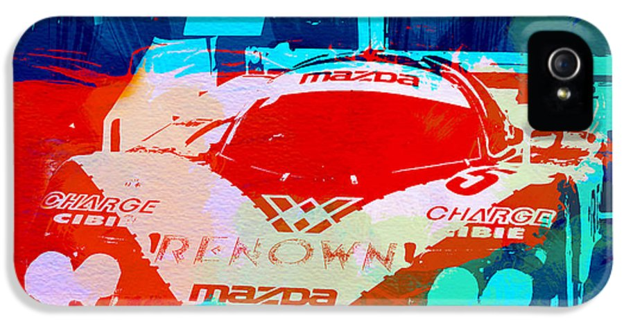 Mazda IPhone 5 Case featuring the painting Mazda Le Mans by Naxart Studio
