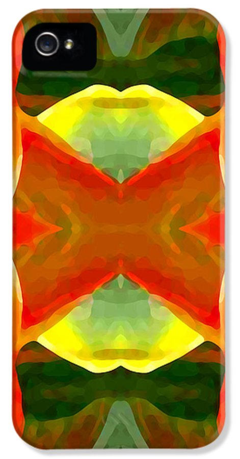 Abstract IPhone 5 Case featuring the painting Meditation by Amy Vangsgard