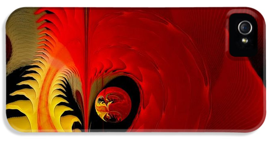 Fractal IPhone 5 Case featuring the digital art Meditations Of Our Heart by Gayle Odsather
