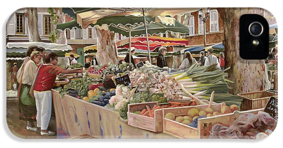 Market IPhone 5 / 5s Case featuring the painting Mercato Provenzale by Guido Borelli