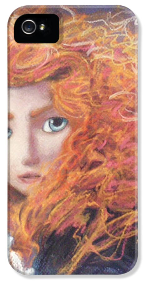 Pixar IPhone 5 Case featuring the painting Merida From Pixar's Brave by Andrew Fling