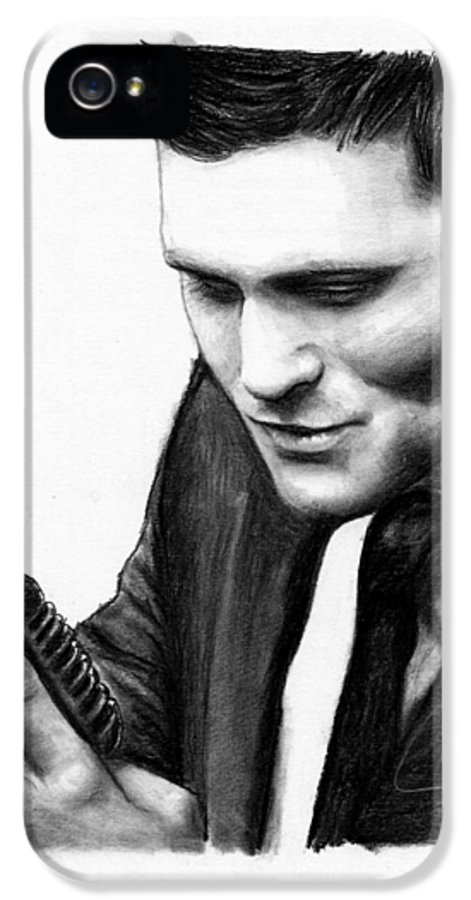 Michael Buble IPhone 5 Case featuring the drawing Michael Buble by Rosalinda Markle