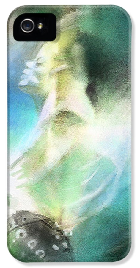 Music IPhone 5 Case featuring the painting Michael Jackson 15 by Miki De Goodaboom
