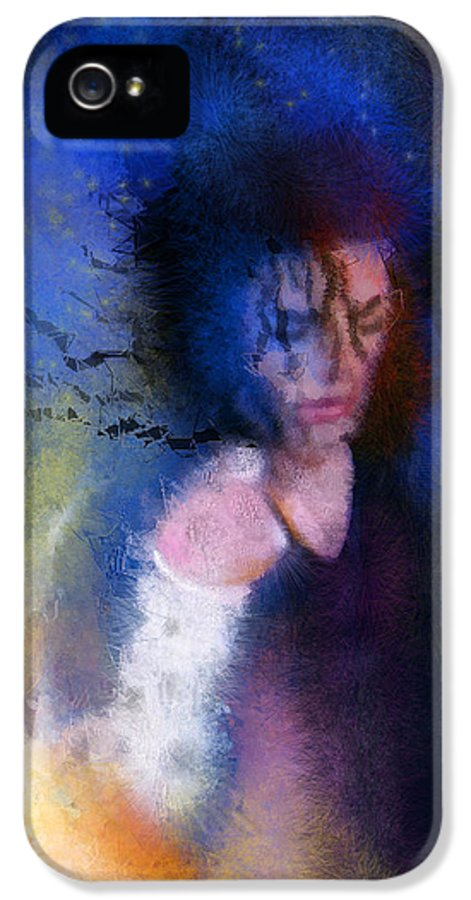 Music IPhone 5 Case featuring the painting Michael Jackson 16 by Miki De Goodaboom