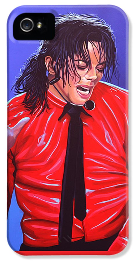 Michael Jackson IPhone 5 Case featuring the painting Michael Jackson 2 by Paul Meijering