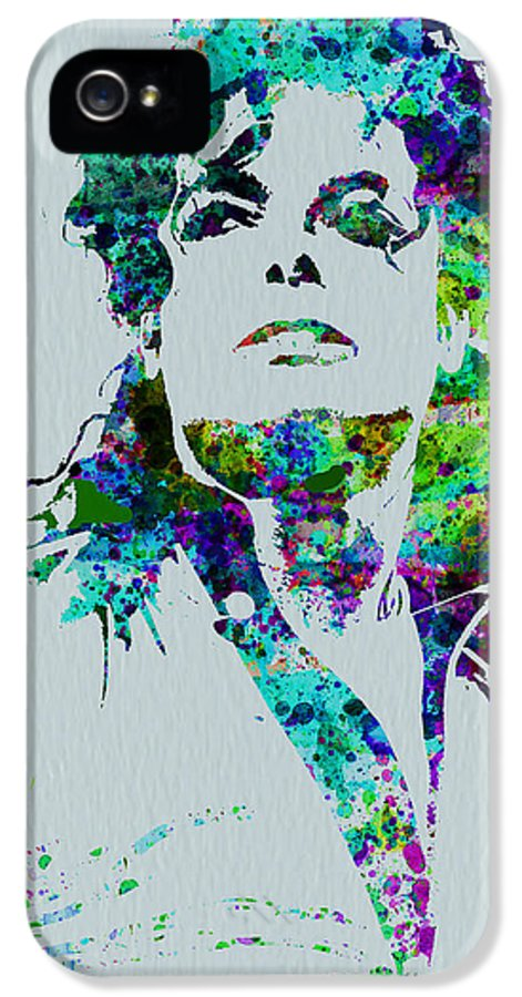 Michael Jackson IPhone 5 Case featuring the painting Michael Jackson by Naxart Studio