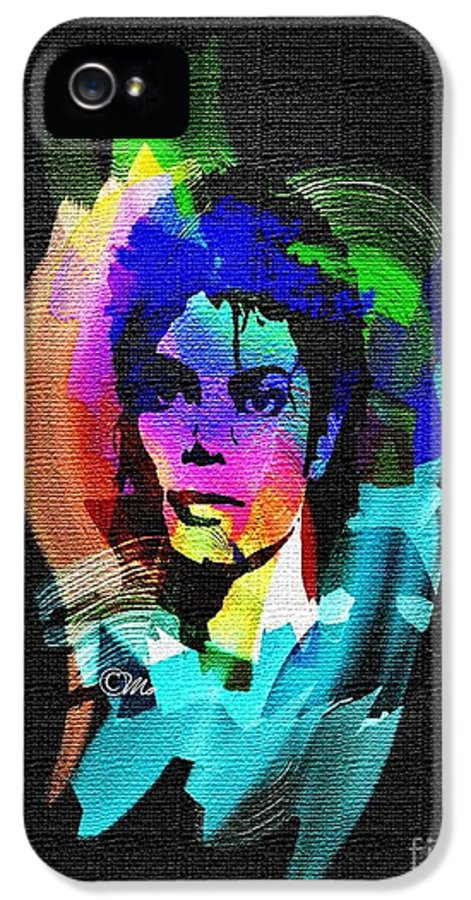Michael Jackson IPhone 5 Case featuring the digital art Michael Jackson by Mo T