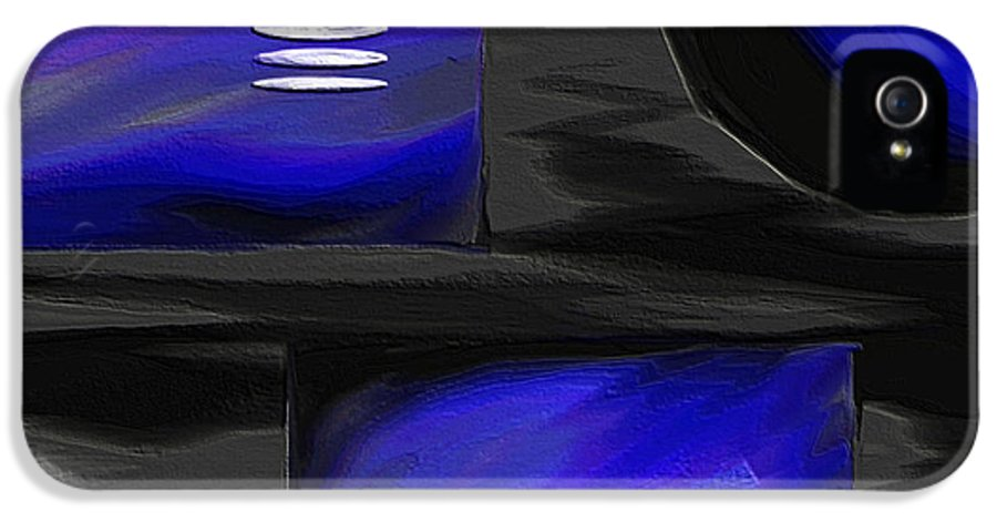 Abstract Art IPhone 5 Case featuring the painting Midnight by Ely Arsha