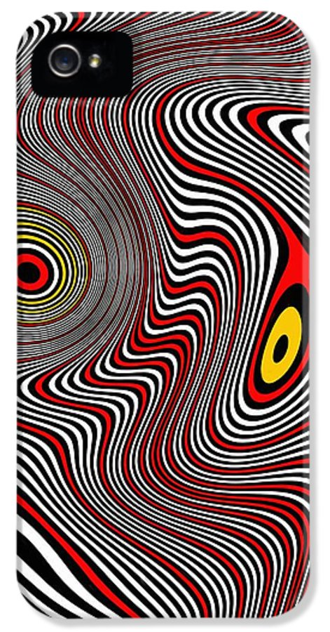 Op Art IPhone 5 Case featuring the painting Migraine Aura by Pet Serrano