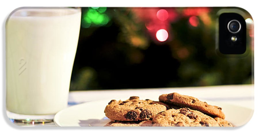 Cookies IPhone 5 Case featuring the photograph Milk And Cookies For Santa by Elena Elisseeva