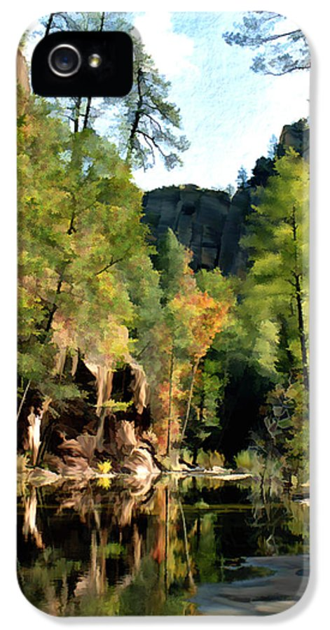 Oak Creek Arizona IPhone 5 Case featuring the photograph Morning At Oak Creek Arizona by Kurt Van Wagner