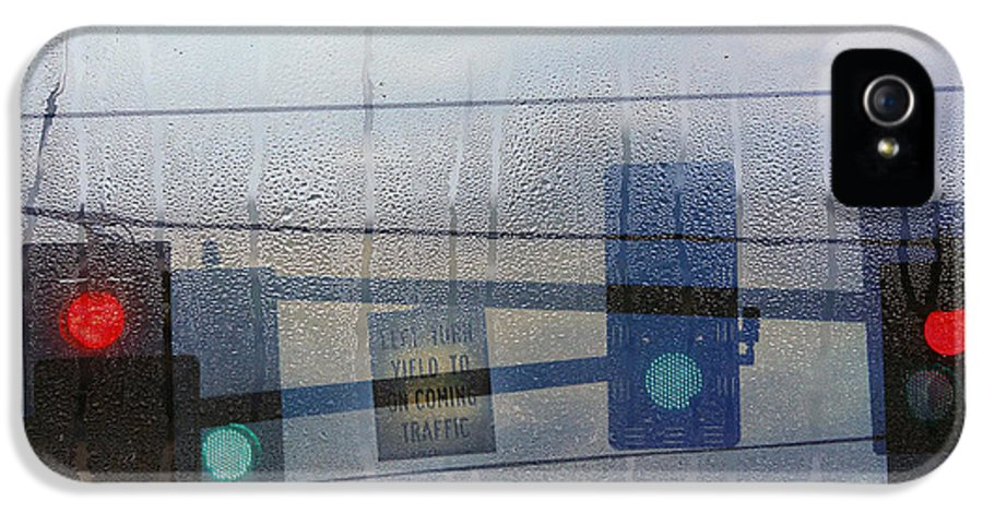 Rain IPhone 5 Case featuring the photograph Morning Commute by Rebecca Cozart