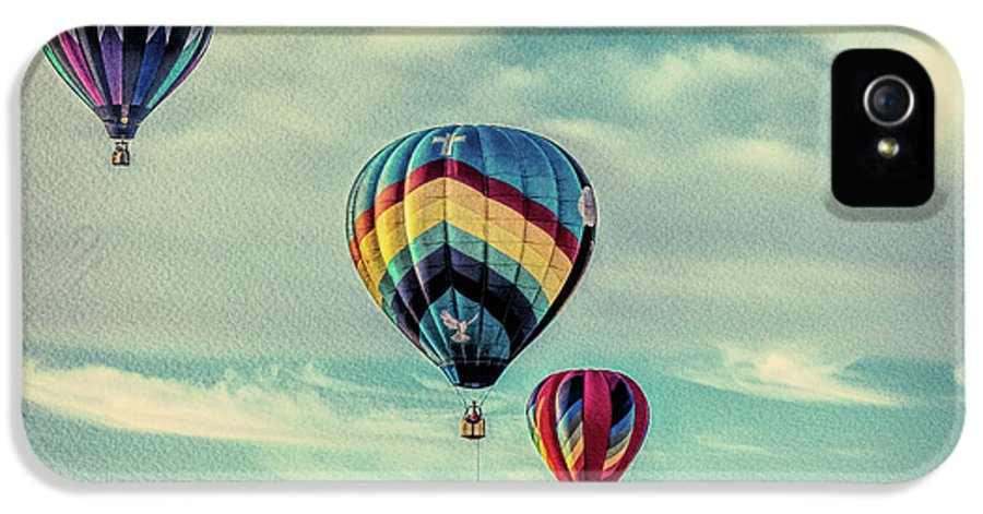 Hot Air Balloon IPhone 5 Case featuring the photograph Morning Lift Off Two by Bob Orsillo