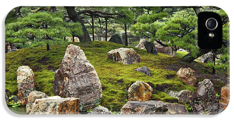 Japanese Garden IPhone 5 Case featuring the photograph Mossy Japanese Garden by Carol Groenen