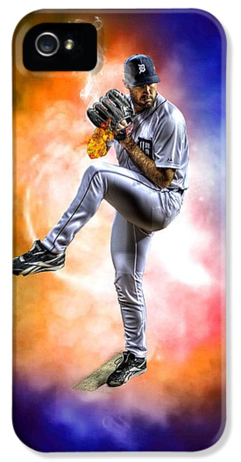 Cy Young IPhone 5 Case featuring the photograph Mr. Justin Verlander by Nicholas Grunas