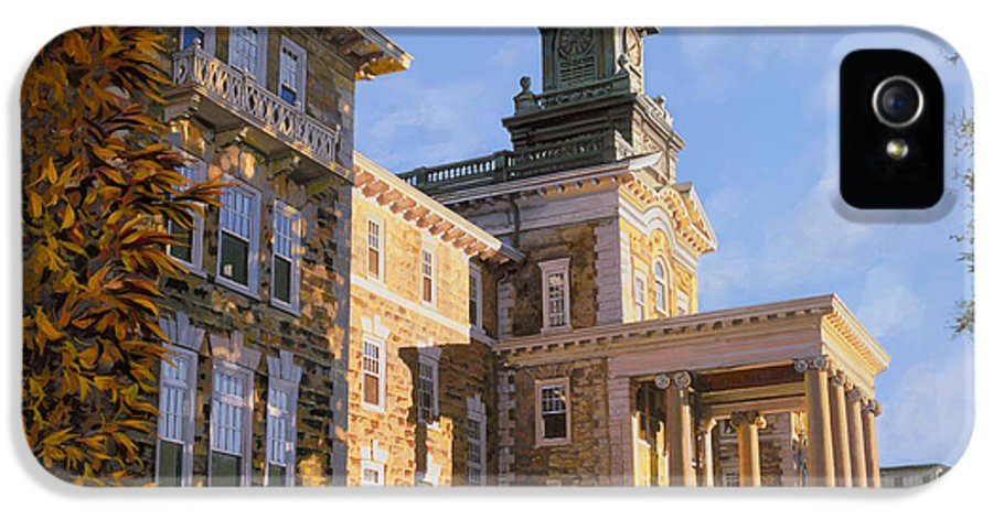 New Jersey IPhone 5 Case featuring the painting Mt St.mary Academy by Guido Borelli