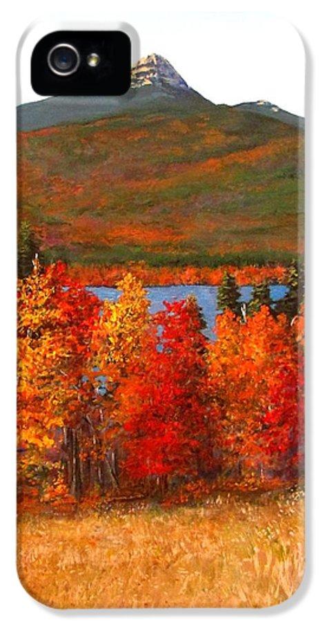 Mt Chocorua IPhone 5 Case featuring the painting Mt.chocorua by Jack Skinner
