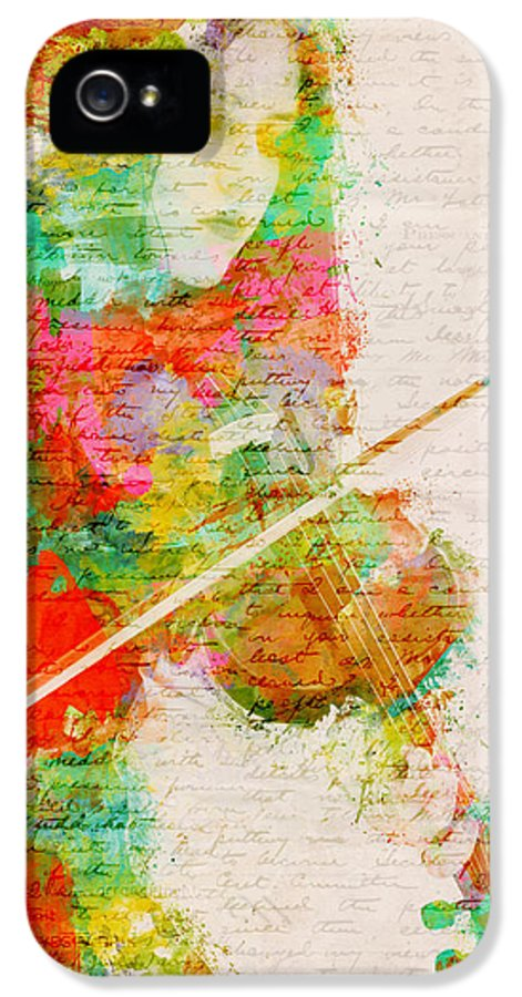 Violin IPhone 5 Case featuring the digital art Music In My Soul by Nikki Smith