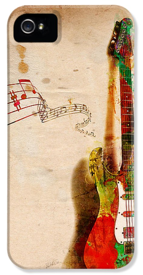 Guitar IPhone 5 Case featuring the digital art My Guitar Can Sing by Nikki Smith