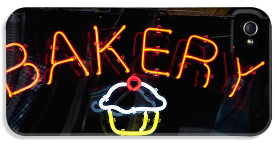 Advertisement IPhone 5 Case featuring the photograph Neon Bakery Sign by Inti St. Clair