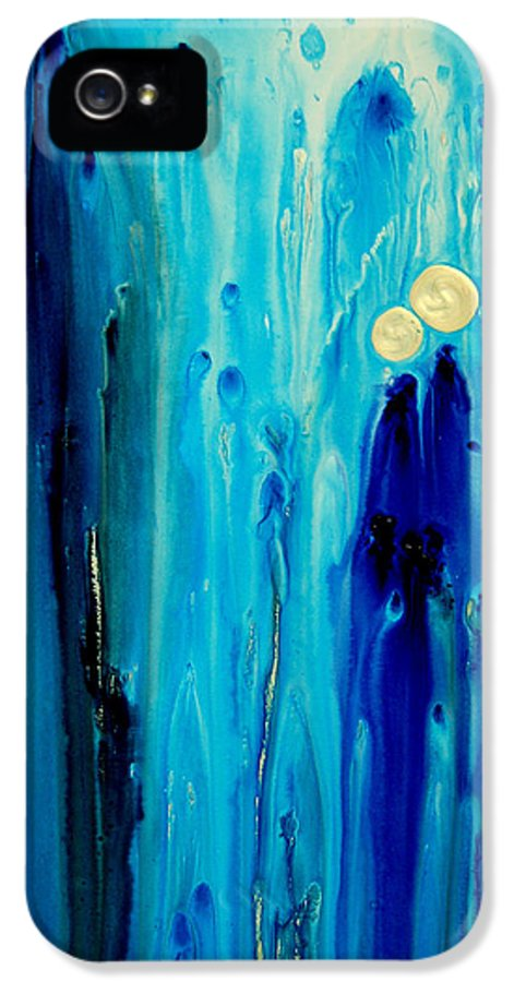 Abstract Art IPhone 5 Case featuring the painting Never Alone by Sharon Cummings