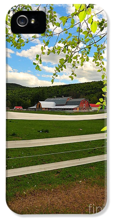 Agriculture IPhone 5 Case featuring the photograph New England Farm by Catherine Reusch Daley