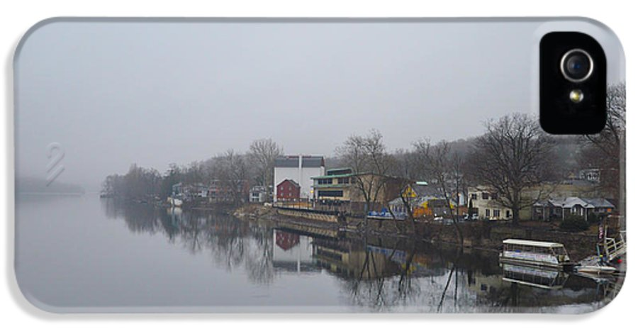 New IPhone 5 Case featuring the photograph New Hope River View On A Misty Day by Bill Cannon