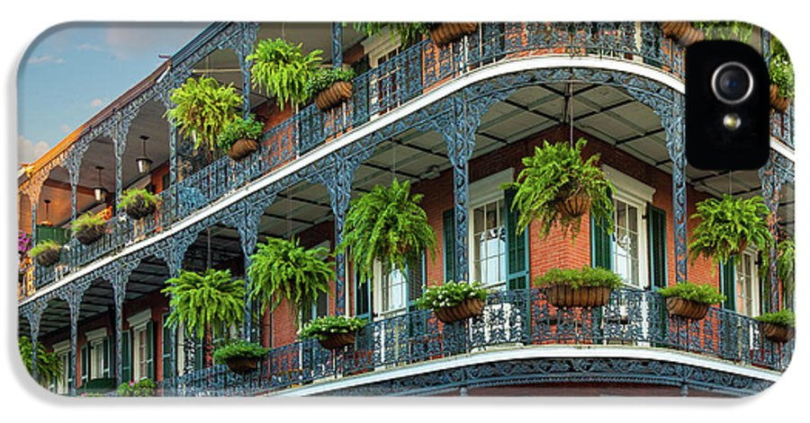 America IPhone 5 Case featuring the photograph New Orleans House by Inge Johnsson