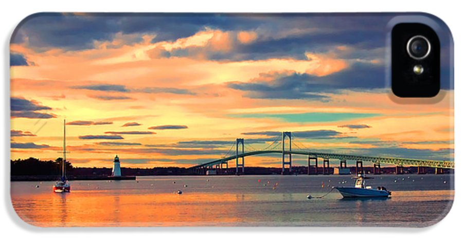 Newport IPhone 5 Case featuring the photograph Newport Gold by Joann Vitali