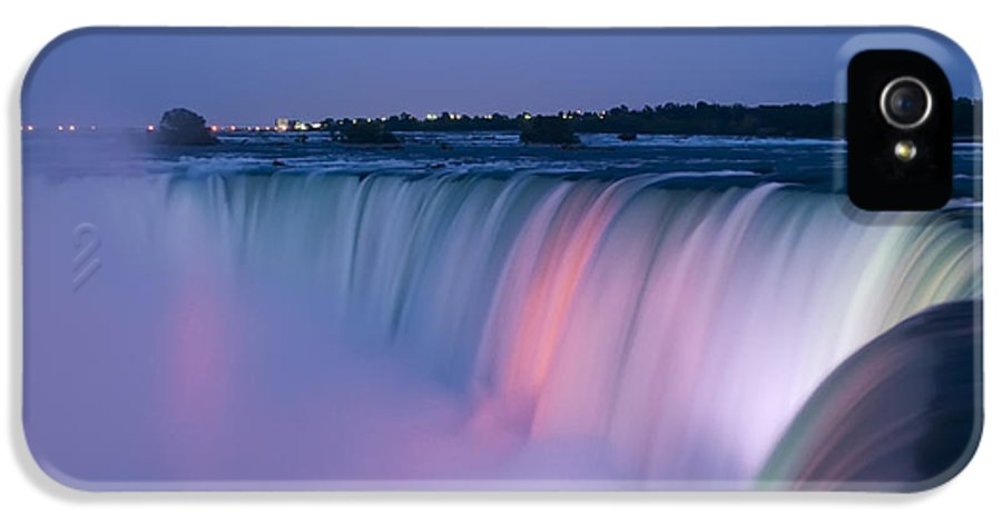 3scape Photos IPhone 5 Case featuring the photograph Niagara Falls At Dusk by Adam Romanowicz