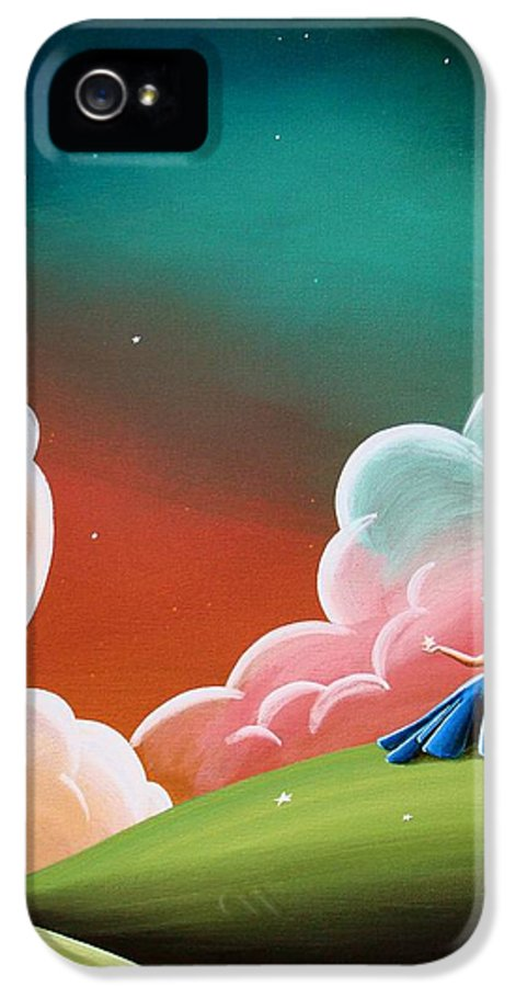 Girl IPhone 5 / 5s Case featuring the painting Night Lights by Cindy Thornton