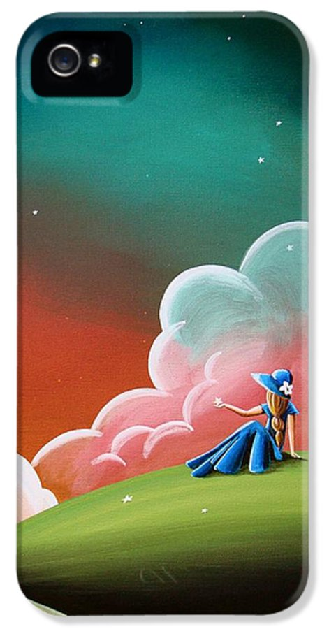 Girl IPhone 5 Case featuring the painting Night Lights by Cindy Thornton