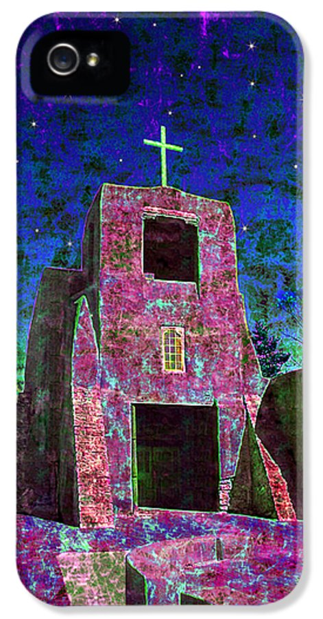 Mission IPhone 5 Case featuring the photograph Night Magic San Miguel Mission by Kurt Van Wagner