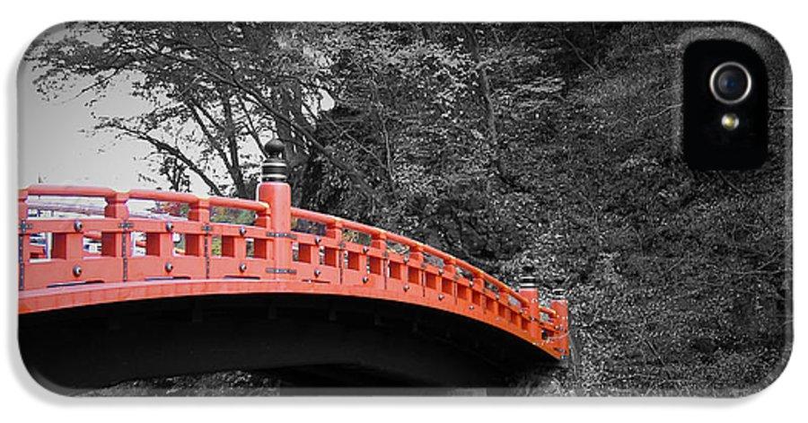 Nikko IPhone 5 Case featuring the photograph Nikko Red Bridge by Naxart Studio