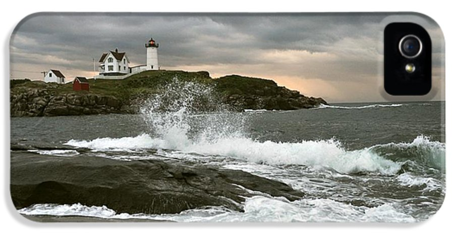 Nubble Light IPhone 5 Case featuring the photograph Nubble Light In A Storm by Rick Frost