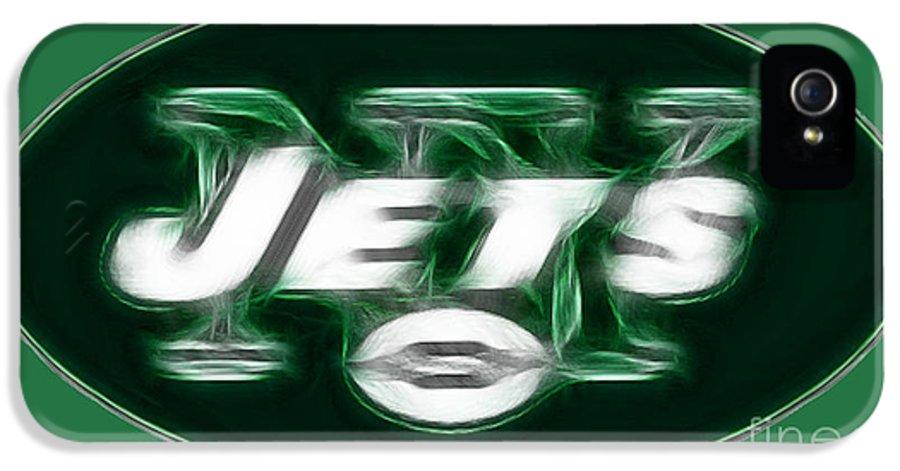 Ny Jets Logo IPhone 5 Case featuring the photograph Ny Jets Fantasy by Paul Ward