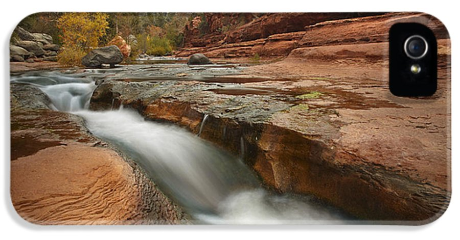 00438935 IPhone 5 Case featuring the photograph Oak Creek In Slide Rock State Park by Tim Fitzharris