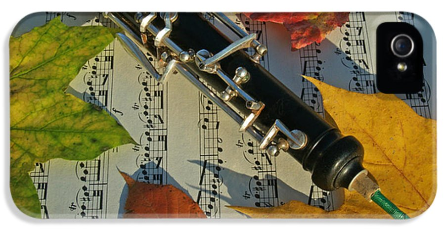 Oboe IPhone 5 Case featuring the photograph Oboe And Sheet Music On Autumn Afternoon by Anna Lisa Yoder