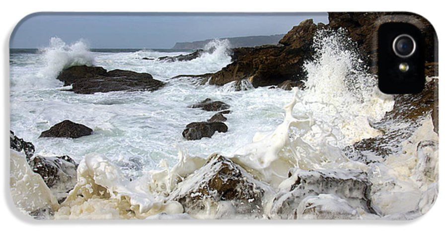 Background IPhone 5 Case featuring the photograph Ocean Foam by Carlos Caetano