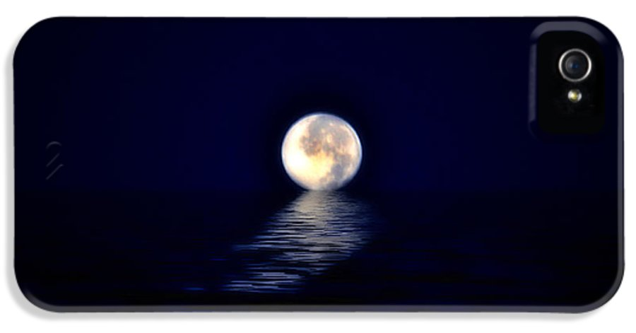 Moon IPhone 5 Case featuring the photograph Ocean Moon by Bill Cannon